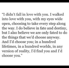 I choose you.