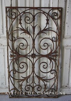 SOLD #24/082 FRENCH CAST IRON GRILL SOLD