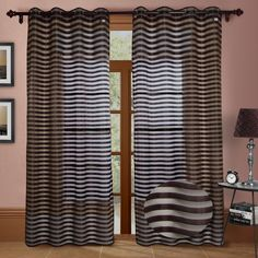 Heidi Faux Silk Organza Grommet Curtain Panels