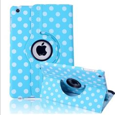 Polka-dot leather 360 rotate smart stand case Polka-dot leather 360 rotate smart stand case Listing is colorful Polka-dot 360 rotating smart leather protective case for iPad mini 1/2/3/4 with sleep/wake features.  Brand new case with perfect shock defender front and back cover  Order and will ship within 24 hours  Thanks for looking. Accessories