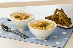Potet- og selerisuppe med sprøstekt kylling