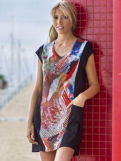 Vestido Vania estampado central con bolsillos en los laterales. http://www.perfumeriaelajuar.com/homewear/vestido-mujer--verano/34/