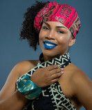Tyra Wax Print Head wrap