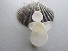 Angel Pin Beach Glass Jewelry  Sea Glass by sourisbytheseaglass, $24.99 etsy