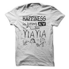 Happiness is being a YIAYIA - #blusas shirt #tee quotes. PRICE CUT => https://www.sunfrog.com/LifeStyle/Happiness-is-being-a-YIAYIA.html?68278
