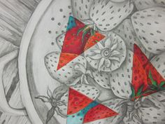 Art I students are beginning a new project that combines their skills in both graphite and colored pencils. Here is a detail from one of t. Middle School Art Projects, Classroom Art Projects, Art Classroom, Art School, 7th Grade Art, Value In Art, Art Curriculum, Principles Of Art, Art Lesson Plans