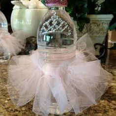 Princess baby shower water bottles - this one is kind of a hot mess but the idea is cute!