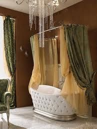 I might actually take a bath instead of a shower if I had this tub. It's so pretty.