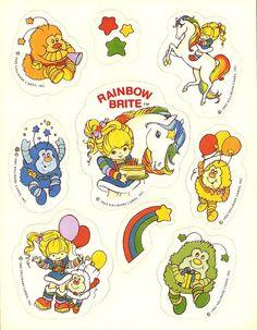 Vintage 1980s Rainbow Smile  Sticker Sheet