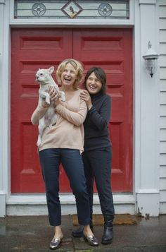 Opposites attract: Writers and friends Elizabeth Gilbert and Rayya Elias.