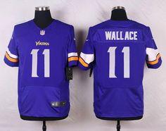 Men's Minnesota Vikings #11 Mike Wallace Purple Team Color NFL Nike Elite Jersey