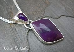 Vibrant deep purple sugilite metalsmith by @kcsterlingstudio, $385.00