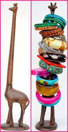 {Giraffe Paper Towel Holder to Bracelet Organizer} | 5 Easy DIY Ideas to Get your Bracelets Organized!