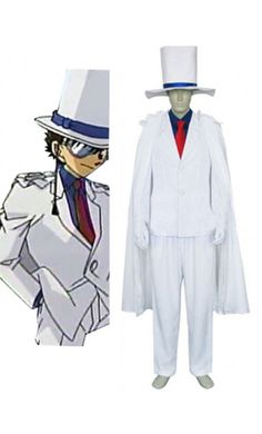 Meitantei Conan Kaito Kuroba Halloween Costumes Cosplay