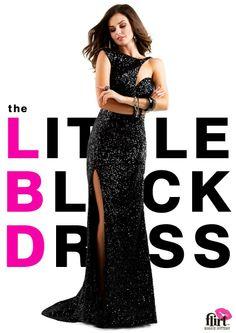 Flirt Prom's classic black prom dress P5807 #lbd #eveningdress #prom #gown