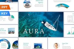 Ad: Aura Presentation Template by SlideStation on This product is a part of the Colossal Presentation Bundle: Aura is a simple and impressive presentation template for both PowerPoint and Presentation Design Template, Business Presentation, Presentation Slides, Indesign Templates, Keynote Template, Texture Web, Design Typography, Photoshop, Illustrations