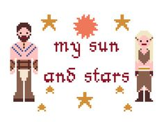 Game of Thrones Cross Stitch Pattern - Drogo and Daenerys (PDF). £2.00, via Etsy.