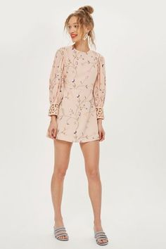 PETITE Embroidered Floral Shift Dress - Shop All Sale - Sale - Topshop  Europe Sale Sale f86de61a9