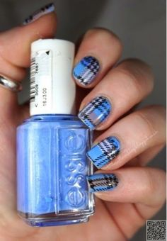 39 #Awesome Plaid Nail Art #Designs for Your Preppy Days ...