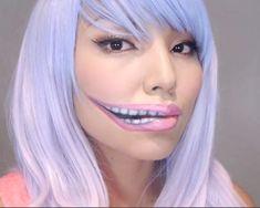 [Pinterest] - Creepy Stretched Lips Halloween Makeup