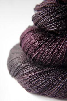 Silk/merino laceweight from DyeForYarn