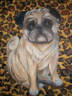 A portrait and gift to my Mother & Father in-law of Bruiser