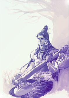 Shiva with veena by mmmmmr