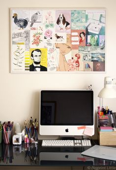 an example I used in class today http://www.decor8eclasses.com via http://bigprintlittle.com/index.php/2011/10/above-my-desk/ #bywbootcamp