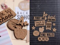 So cute! Product Spotlight : Back to School Cork Shapes