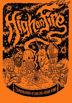 Michael Hacker gig poster for High On Fire