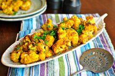 Roasted Curry Cauliflower ll www.SimplyScratch.com #healthy