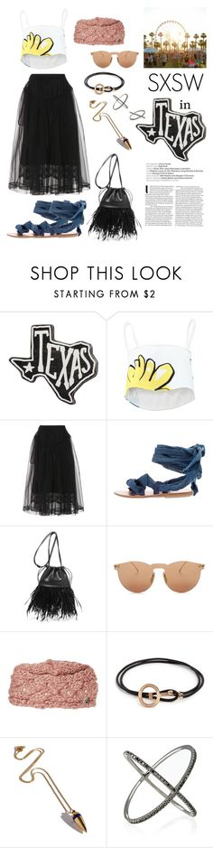 """SXSW in Texas"" by windrasiregar on Polyvore featuring Primitives By Kathy, Adam Selman, Simone Rocha, Brother Vellies, Alexander Wang, Illesteva, Betsey Johnson, Pamela Love and Eva Fehren"