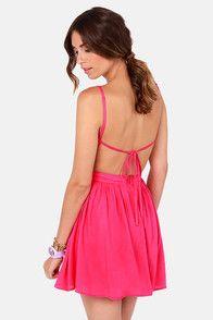 Getting Back Together Magenta Pink Backless Dress