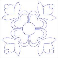 Patrón de costura remiendo bordado apliques