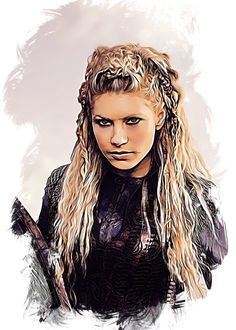"""Vikings Character Sketch Lagertha #Displate artwork by artist """"Apocalypticaboy"""". Part of an 8-piece set featuring artwork based on characters from the popular Vikings TV series. £38 / $52 per poster (Regular size), £77 / $104 per poster (Large size) #Vikings #Ragnar #RagnarLothbrok #Lagertha #Bjorn #Rollo #Floki #Athelstan #Aslaug #Ecbert"""