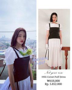 Velvet Outfits, Velvet Fashion, Pop Fashion, Red Velvet, Corset, Kpop, Girls, Dresses, Style