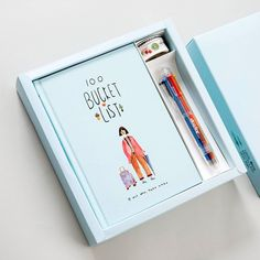 100 Bucket List Notebook Stationery Gift Box with Notebook, Ballpoint Pen, Washi Tape Cute Korean Stationery Gifts Set Multi Color Pen, Korean Stationery, Notebook Stationery, Stationary Gifts, Stationary Design, Cute Notebooks, Unique Gifts For Her, Journal Notebook, Planer