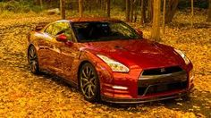 Nissan GTR on a fall drive
