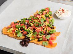 Süßkartoffeln sind für Nachos eine gesunde Alternative undlassen sich ganz leicht zubereiten.