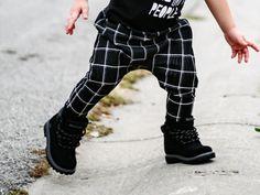 Baby Toddler Girl Boy Black/White Plaid Skinny Harem by loveumkids