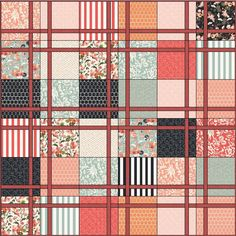 Lets Quilt Something: Persimmon - Free Quilt Pattern - Layer Cake.  Other free patterns on this page also.