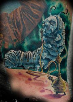 trippy alice in wonderland tattoo   Caterpillar from Tim Burton's Alice in Wonderland