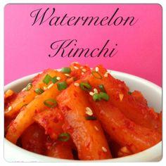 (수박김치) Watermelon Kimchi!