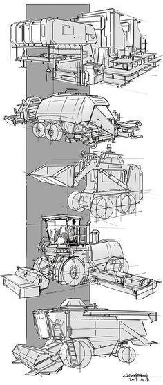Perspective drawing by lidongsheng - CGHUB Disney Art, Disney Pixar, Industrial Design Sketch, Perspective Drawing, Sketch Inspiration, Car Drawings, Technical Drawing, Character Design References, Transportation Design