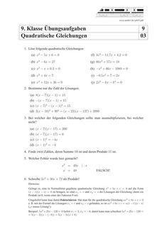 Mathepower quadratische gleichungen