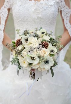 Lauren - I like this for centerpieces as well as for bouquets. That's it: I'm getting married in January.