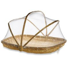 Keep food safe without worrying about flies getting in your food.    Bamboo food tent, $6, bedbathandbeyond.com