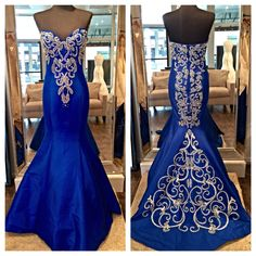 Gorgeous new evening gown by Jovani. Style 20890. Available in Royal, Black, Emerald and Red.