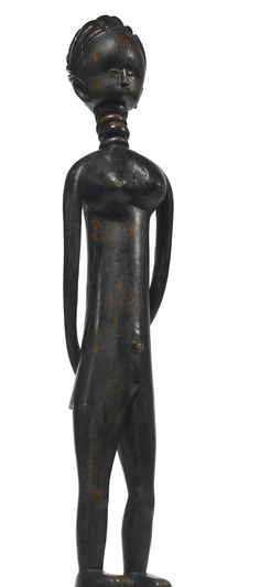 SHERBRO FEMALE FIGURE, SIERRA LEONE Height: 35 1/2 in (90.2 cm) Sotheby's New york In Pursuit of Beauty: The Myron Kunin Collection of African Art 11 November 2014
