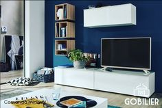 Tv wall storage systems shelves shelf under mounted storage Tv Ikea, Ikea Tv Unit, Entertainment Center Kitchen, Entertainment Room, Cube Mural, Tv Design, Wall Storage Systems, Design Moderne, Living Room Sets